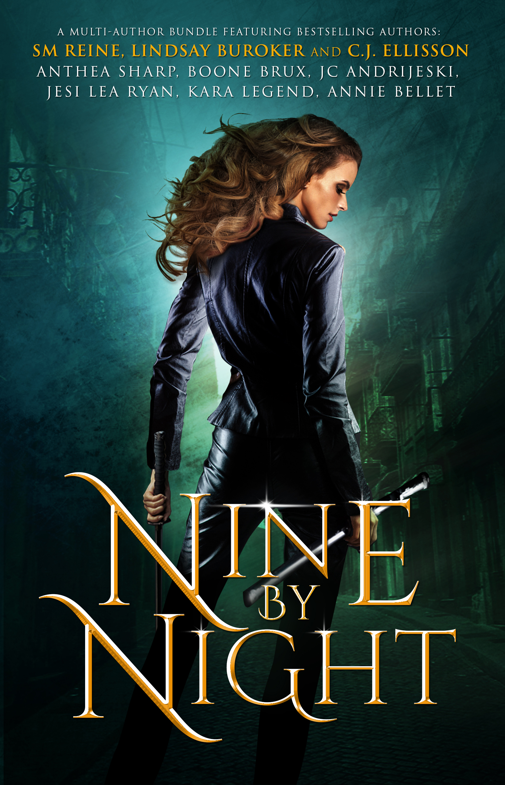 Urban Fantasy Book Cover : Nine books bestselling authors by night urban